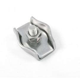 Serre-câble Simple Plat Inox A4 4mm