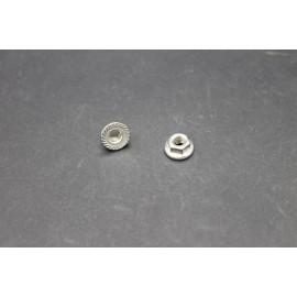 Ecrous à Embase Crantée Inox A2-70  4mm
